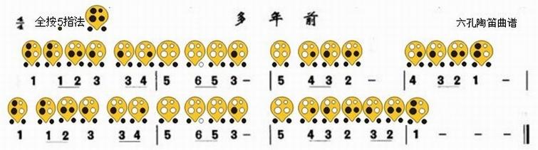 六孔陶笛曲谱多年前