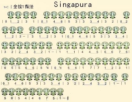 六孔陶笛曲谱 >>singapura