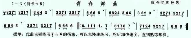 青春舞曲-埙曲谱大全-埙-陶笛网